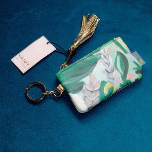 Paper Destiny Floral Leather Keychain Pouch